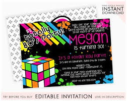 80s Themed Invitations 80s Birthday Party Invitation Template Instant Download Edit Invitation Online With Corjl 339