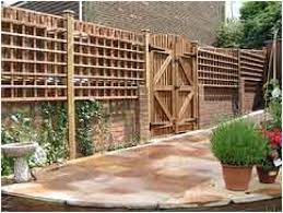 Patio Privacy Fence Backyards Cozy Brick Deck Designs Patio Privacy Fence Ideas