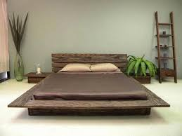 Bedroom , Japanese Bed For Modern Japanese Style Bedroom Design : Wooden  Platform MOdern Japanese Bed