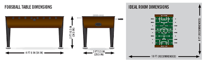 foosball table dimensions. TABLE SIZE \u0026 IDEAL ROOM DIMENSIONS Foosball Table Dimensions L