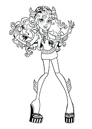 Monster High Free Coloring Pages To Print P7517 Monster High