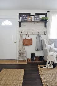 Image Entryway Bench Diy Rustic Entryway Coat Rack Super Simple Way To Create Organization In Any Size Entryway Or Mud Room Must Pin Pinterest Diy Rustic Entryway Coat Rack My Home Sweet Home Rustic