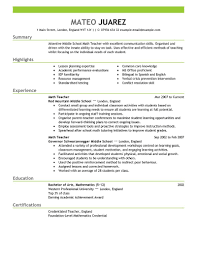 Sample Resume Format For Teachers Writing instruments Cartier free teacher resume sample Buy GMAT 1