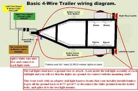 rear lights wiring diagram rear wirning diagrams 4 wire trailer wiring diagram at Wiring A Trailer Diagram