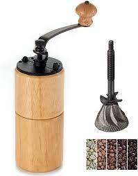 Target / kitchen & dining / hand cranked coffee grinder. Amazon Com Akirakoki Manual Coffee Grinder Wood Coffee Mill With Cast Iron Burr Large Capacity Wooden Hand Crank Portable Adjustable Light Wood Kitchen Dining