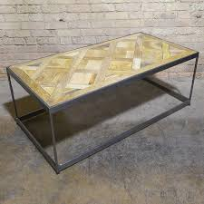 parquet coffee table fish tank