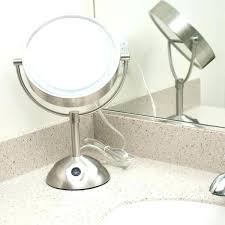 conair chrome magnifying countertop vanity mirror with light lighted double sided makeup 8 1 2 satin