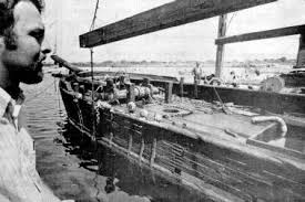 to insure that the ship would not be torn apart while drying out after being in the water for 100 years an enclosure was built around the ship