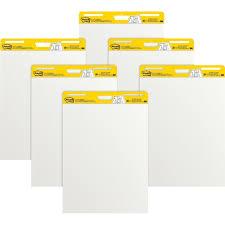 3m Post It Flip Chart Post It 559vad6pk Easel Pads Self Stick Plain 30 Shts 25 X 30 6 Ct White Flip Chart Pad