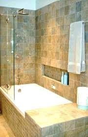 oval tub shower combo
