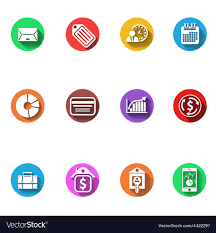 Google Flat Design Icons Business And Finance Flat Design Icons Set