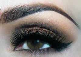 you can also use shades like yellow and gold to create a ravishing look avoid black and go for dark brown or brown mascaras