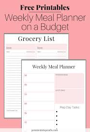 Monthly Meal Planner Printable Free Printable Meal Planning On A Budget Toolkit
