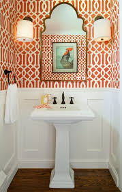 powder room pedestal sink ideas powder room traditional with white wainscoting hardwood oak floors hardwood oak floors