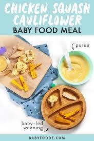 en squash cauliflower baby food