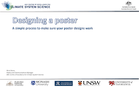 how to make a science poster designing an academic poster australian research councils arc