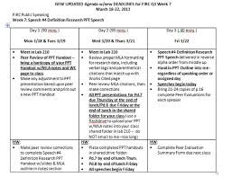 Public Speaking Definition New Revised Agenda For Firc Public Speaking Q3 Week 7 Research