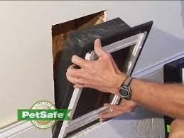 petsafe wall entry door installation
