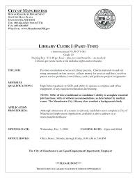 School Librarian Resume New Circulation Assistant Sample Resume Colbroco