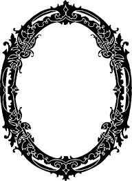 mirror clipart black and white. mirror, black vintage, retro, design mirror clipart and white