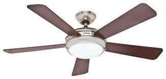 hunter fans 59052 palermo 52 ceiling fan and remote in brushed nickel contemporary ceiling ceiling fan