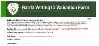 Completing To Complyfile Guide Vetting Validation - Garda A Form Blog The Id