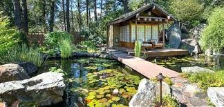 japanese patio furniture. Japanese Outdoor Furniture Oriental Living Spaces Patio Forest Pond Water Lilies . U