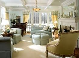 french country living rooms. French Country Living Room With Round Ottoman Rooms