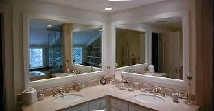 corner double sink bathroom vanity remodeled corner vanity including double mirror and sink bathroom remodeling by corner double sink bathroom vanity