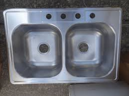 glacier bay 755 731 brushed stainless steel 20 gauge 4 hole double bowl
