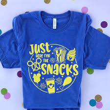 Just Here For The Snacks Disney Adult Youth Unisex T Shirt Dole Whip Popcorn Food And Wine