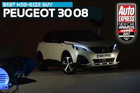 best mid size suv 2017 mid size suv of the year 2017 peugeot 3008 new car awards 2017