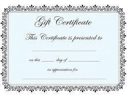 Microsoft Word Gift Certificate Template Restaurant Gift Certificate Template Word Interestor Co
