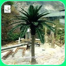fake palm trees outside indoor outdoor designs artificial for metal pa