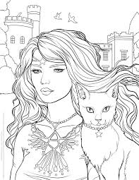 Small Picture 273 best Witch coloring images on Pinterest Coloring books