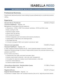 sample clinical nurse specialist resume best neonatal nurse practitioner resumes resumehelp