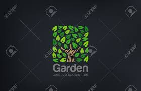 Small Picture Abstract Green Tree Logo Square Shape Design Vector Template