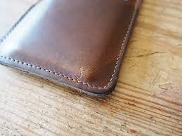north star leather horween iphone 6 card sleeve