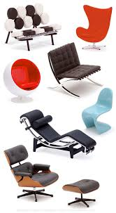 iconic designer furniture. iconic chairs of the 20th century eames lounge chair le corbusier chaise and designer furniture m