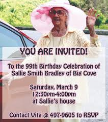 99th Birthday Celebration for Sallie Smith Bradley - The Cherokee One  Feather | The Cherokee One Feather