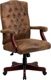 rustic office chair. button tufted home office executive desk chairs w wood frame ebay rustic office chair c