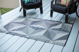 details about 150x238cm outdoor rug geo star grey fab rugs waterproof plastic mat camping