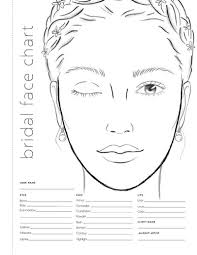 Bridal Face Chart Book Info Makeup Bridal Face Charts Colorista Books