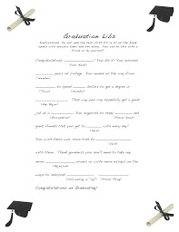 and easy graduation libs easy event ideas you ve have done a madlibs game as a child or be you ve seen a personalized one at a wedding i know i made one for mine i also created graduation