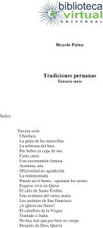 tradiciones peruanas tercera serie