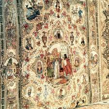 hand made silk carpet