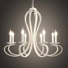 white wrought iron chandelier traditional 6 light