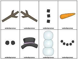 Template Of A Snowman Gallery For Snowman Stick Arms Template Preschool Speech