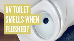rv toilet smells when flushed do this