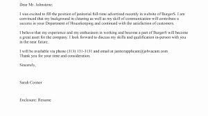 19 Cover Letters For Janitor With No Experience Lock Resume